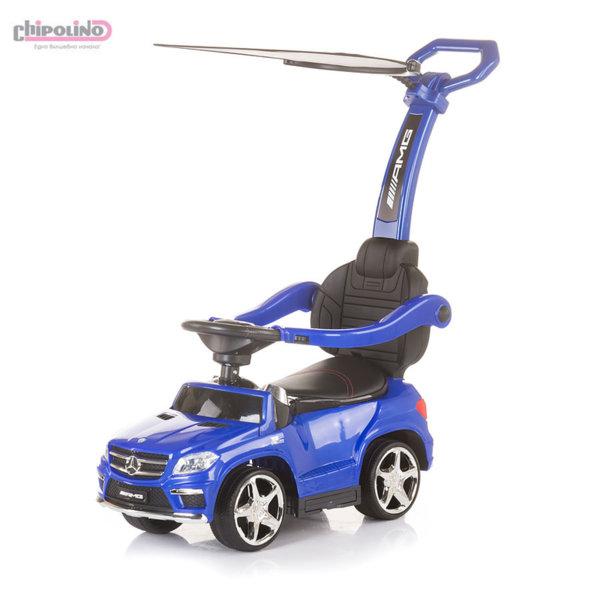 Chipolino Кола за бутане с крачета с родителски контрол и сенник Mercedes Benz GL63 AMG синя