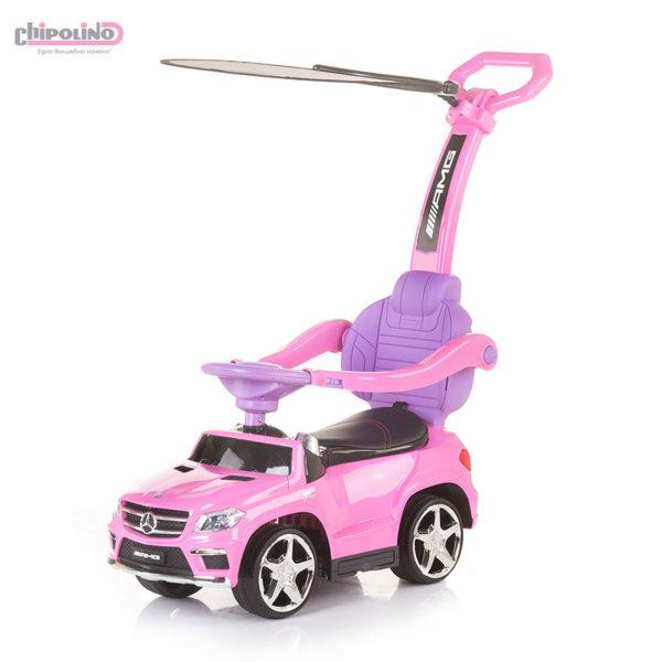 Chipolino Кола за бутане с крачета с родителски контрол и сенник Mercedes Benz GL63 AMG розова