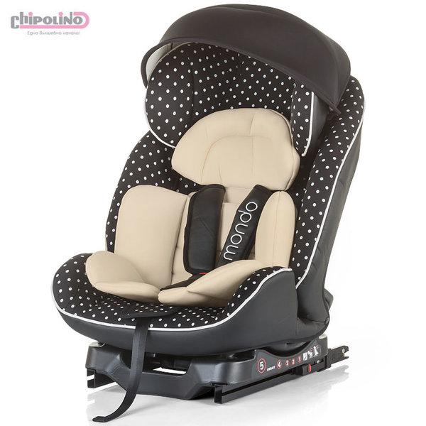 Chipolino Столче за кола с ISOFIX Мондо (0-25кг) карамел