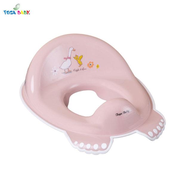 Tega Baby Детска анатомична седалка за тоалетна чиния Горска приказка розова