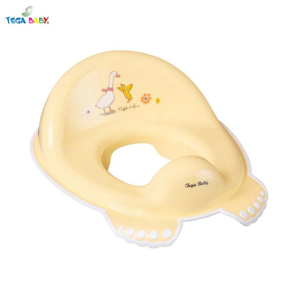 Tega Baby Детска анатомична седалка за тоалетна чиния Горска приказка жълта
