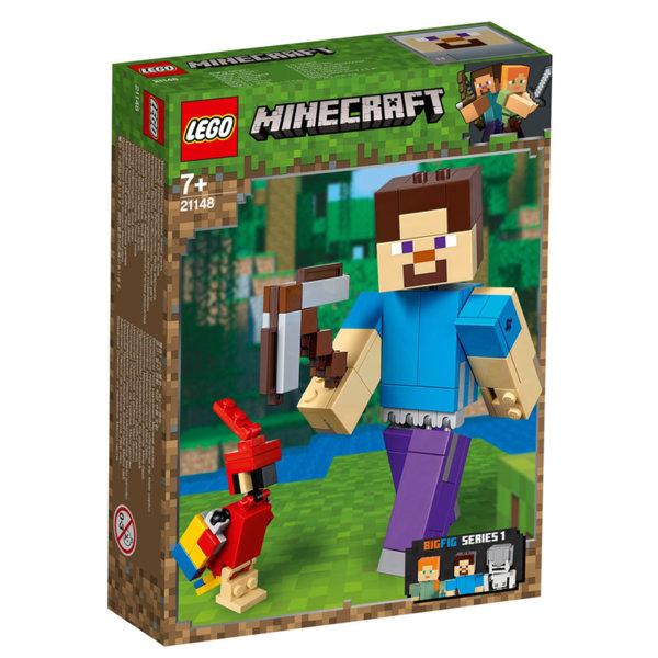 Lego 21148 Minecraft Голяма фигурка Стийв с папагал