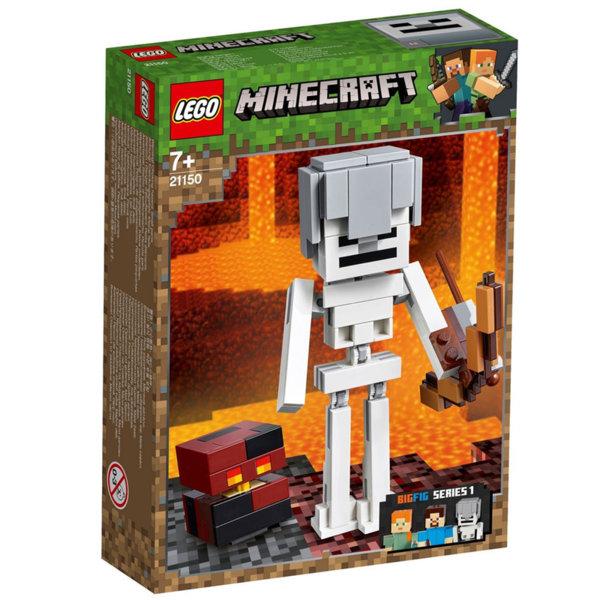 Lego 21150 Minecraft Голяма фигурка Скелет с куб от магма