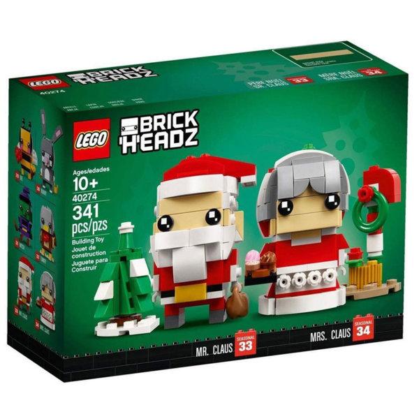 Lego 40274 BrickHeadz Дядо Коледа и баба Коледа