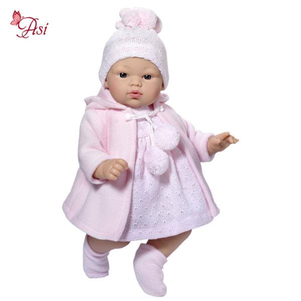 Asi Кукла бебе Коке с розова рокля и шапка 0401620