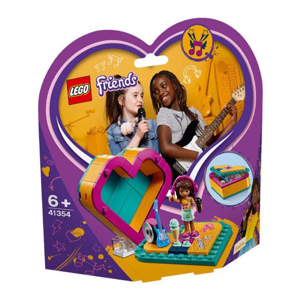 Lego 41354 Friends Кутията с форма на сърце на Андреа