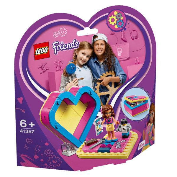 Lego 41357 Friends Кутията с форма на сърце на Olivia