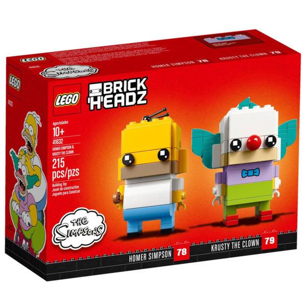 Lego 41632 BrickHeadz The Simpsons Хоумър Симпсън и клоунът Кръсти