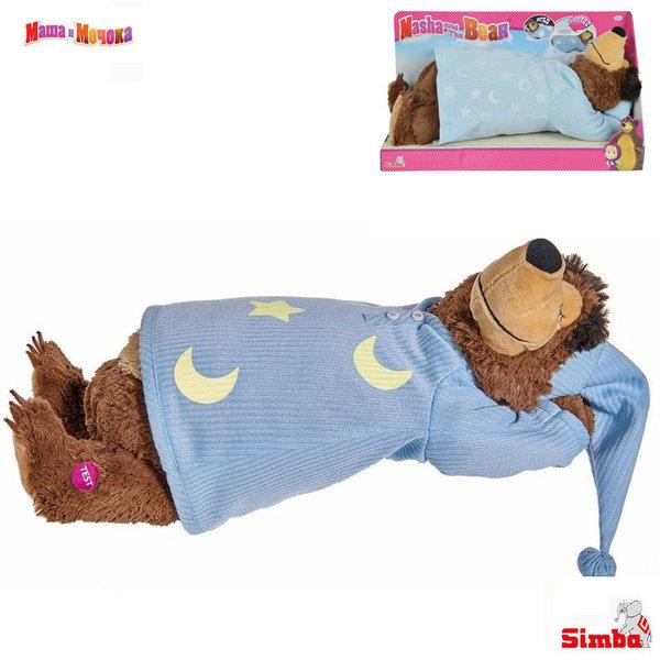 Simba Маша и Мечока Плюшен спящ мечок със светеща пижама 109301008