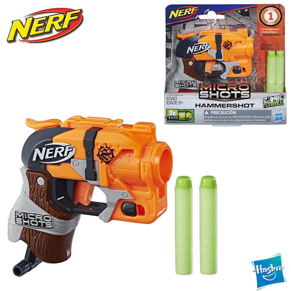 Nerf Бластер Nerf MicroShots Zombie Strike Hammershot E0489