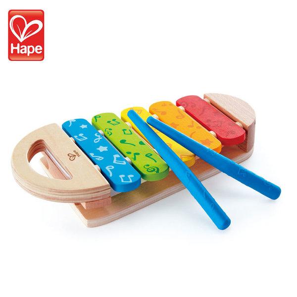 Hape Детски дървен ксилофон Rainbow H0606