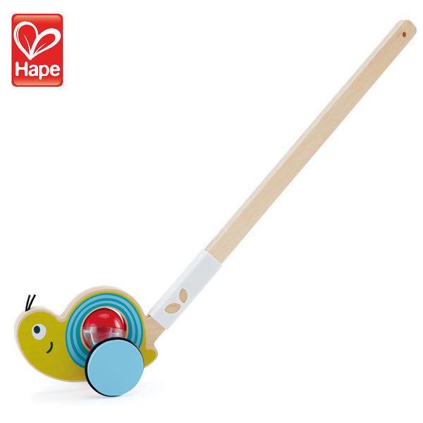 Hape Дървена играчка за бутане охлюв H0355