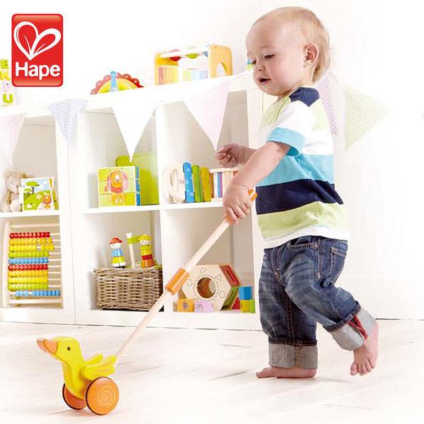 Hape Детска играчка за бутане пате H0357