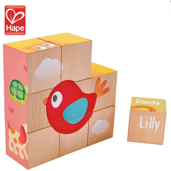 Hape Детски дървени кубчета приятелство H0452