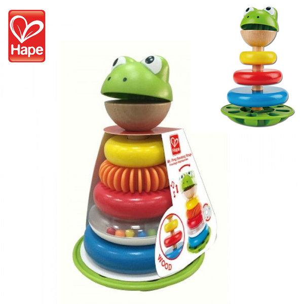 Hape дървена играчка за подреждане Жаба H0457