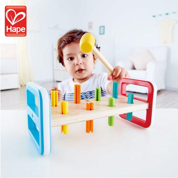 Hape Дървена игра с чукче дъга H0506