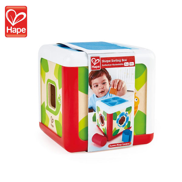 Hape Детски дървен куб сортер H0507