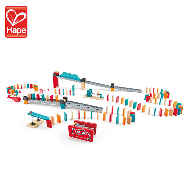 Hape Детско дървено домино Фабрика H1057
