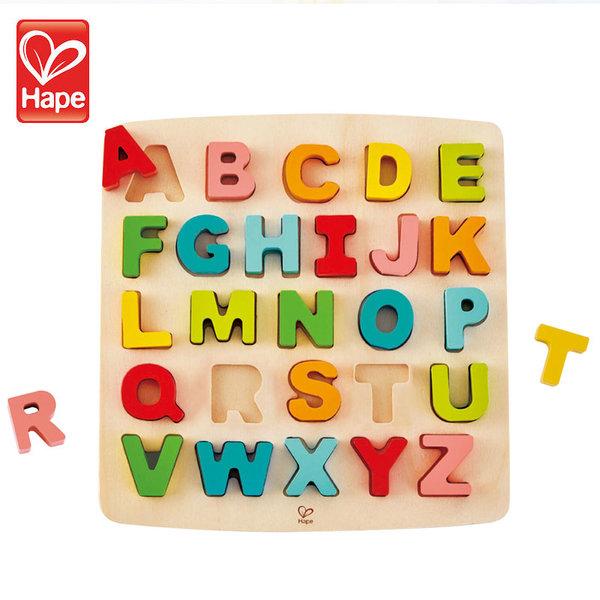 Hape Дървен пъзел азбука Главните букви H1551
