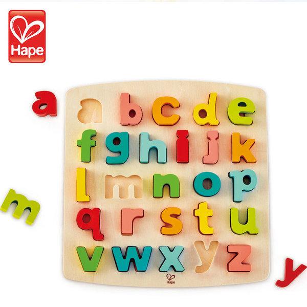 Hape Дървен пъзел азбука Малките букви H1552