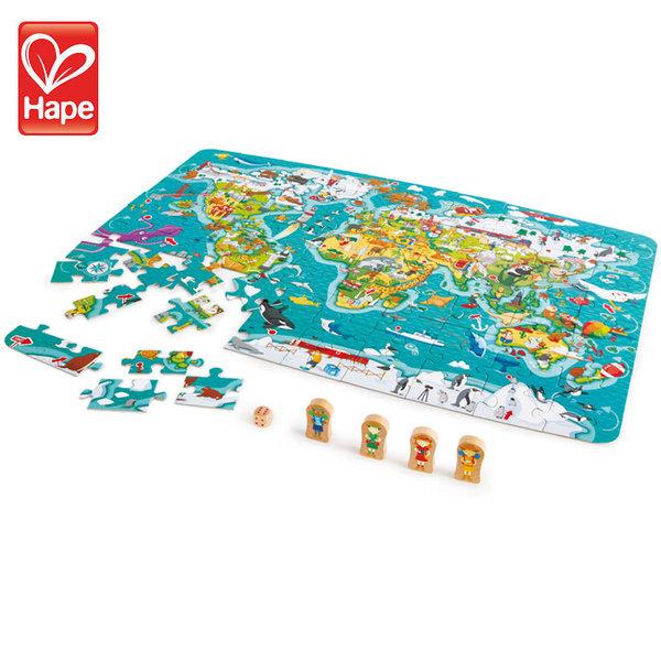Hape Детски пъзел игра 2в1 Световна обиколка H1626