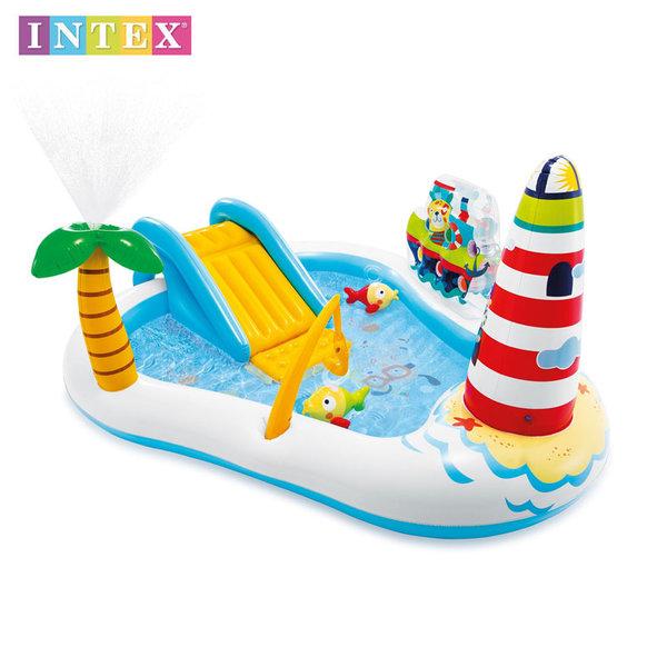 Intex Детски надуваем център с басейн и пързалка Риболов 57162