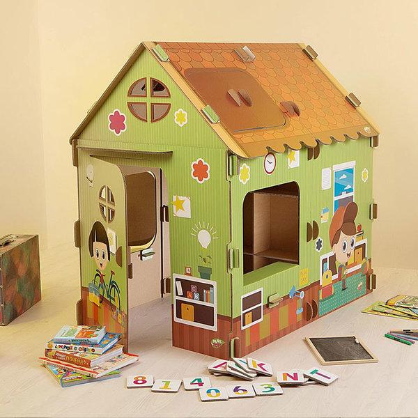 PlayToyz Картонена къща за игра Училище XL