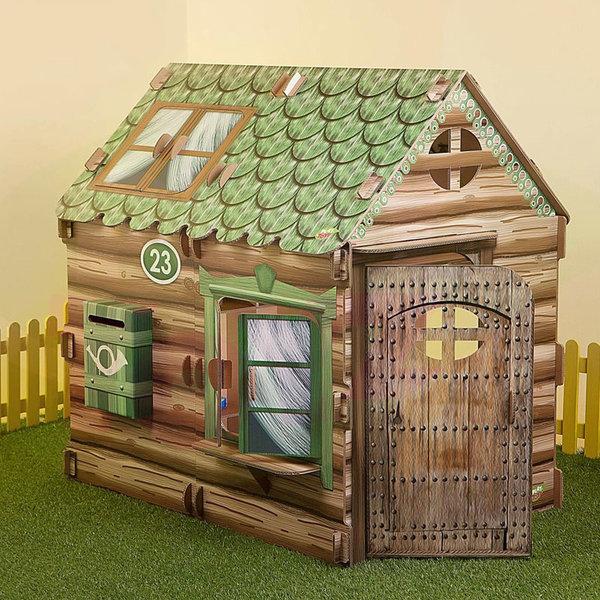 PlayToyz Картонена къща за игра Селска къщурка XL