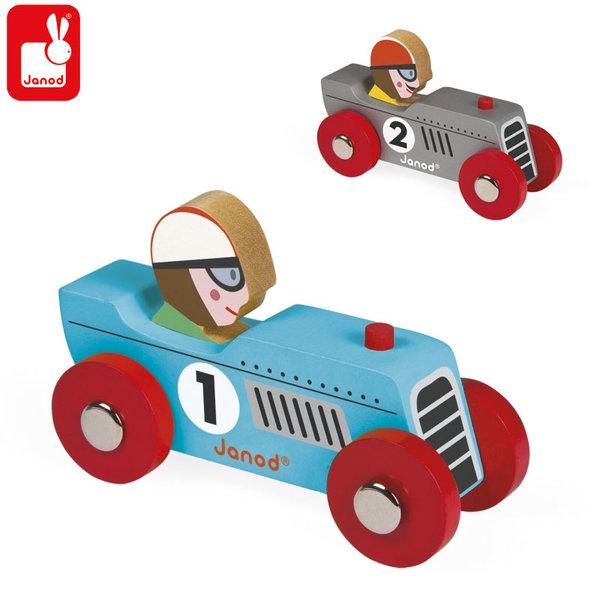 Janod Дървена състезателна количка J08549