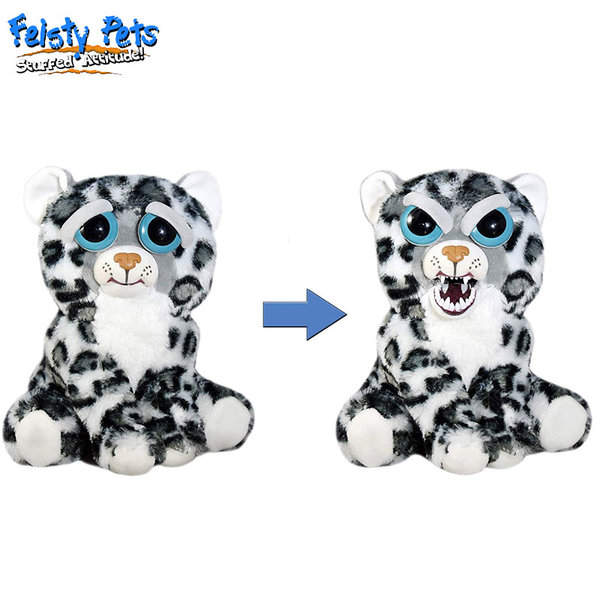Feisty Pets Плашеща плюшена играчка Снежен леопард 32375