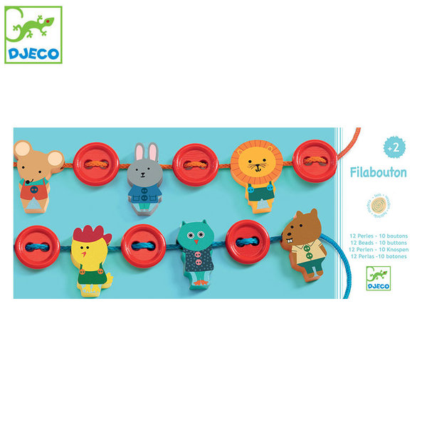 Djeco Дървена играчка за нанизване DJ06162