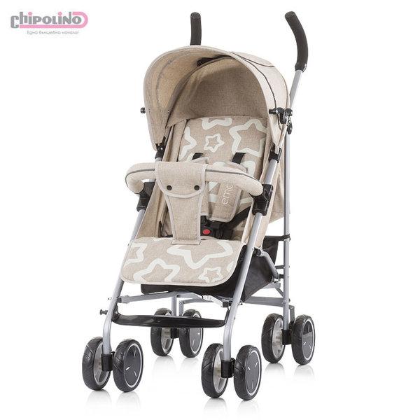 Chipolino Детска количка Емоджи фрапе лен