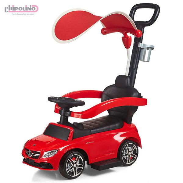 Chipolino Кола за яздене с дръжка и сенник Мерцедес AMG C63 червен