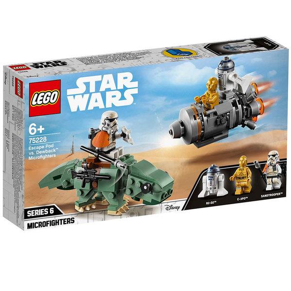 Lego 75228 Star Wars Спасителна совалка срещу Dewback - микрофайтърс