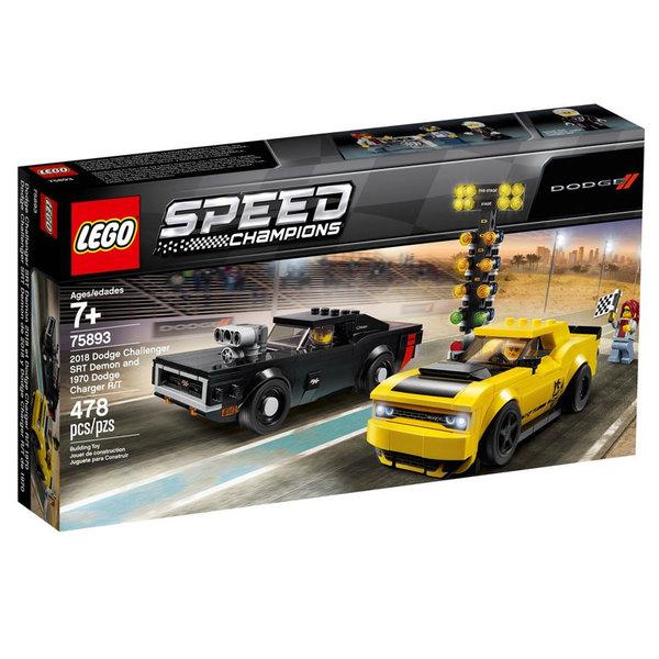 Lego 75893 Speed Champions 2018 Dodge Challenger SRT Demon & 1970 Dodge Charger R/T