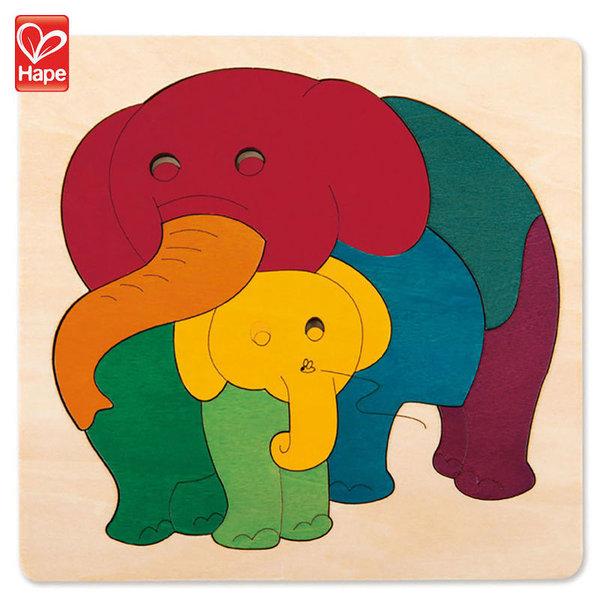 Hape Дървен пъзел Слончета H6505