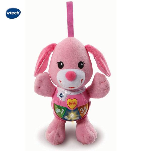 Vtech Музикално плюшено кученце розово 502353