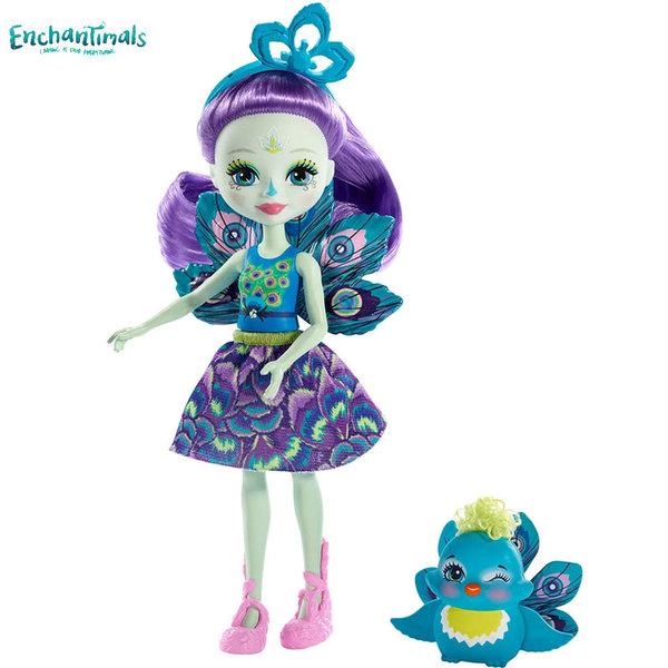 Enchantimals Пазители на гората Кукла с животно паун FXM74