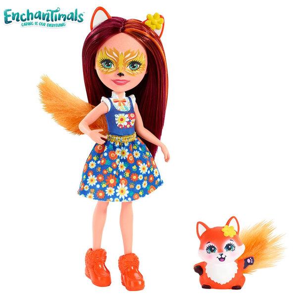 Enchantimals Пазители на гората Кукла с животно лисица FXM71