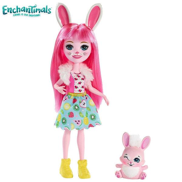 Enchantimals Пазители на гората Кукла с животно зайче FXM73