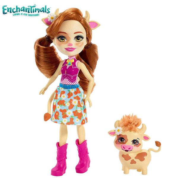 Enchantimals Пазители на гората Кукла с животно кравичка FXM77