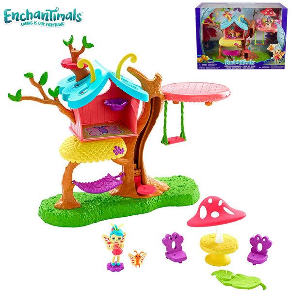Enchantimals Комплект за игра Къщичката на дърво на пеперудката Baxi GBX08
