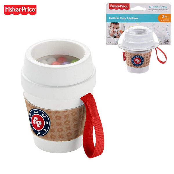 Fisher Price Бебешка гризалка дрънкалка Чаша за кафе DYW60