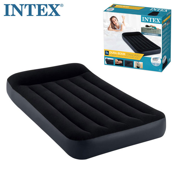 Intex Надуваем матрак с вградена помпа 99х191см Fiber Tech Technology 64146