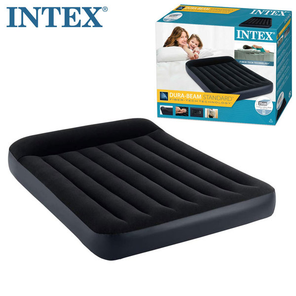 Intex Надуваем матрак с вградена помпа 137х191см Fiber Tech Technology 64148