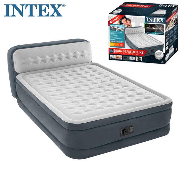 Intex Надуваем матрак с вградена помпа и подложка за глава 152х203 Fiber Tech Technology 64448
