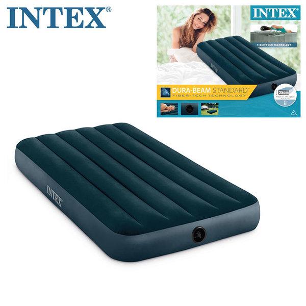 Intex Downy Надуваем матрак 76х191см Fiber Tech Technology 64731