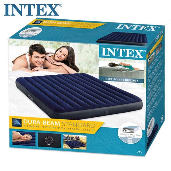 Intex Надуваем матрак 183х203см Dura-Beam Standard Classic Downy 64755