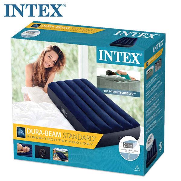 Intex Надуваем матрак 76х191см Dura-Beam Standard Classic Downy 64756