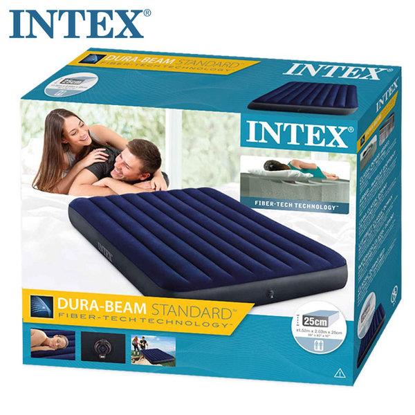Intex Надуваем матрак 152х203см Dura-Beam Standard Classic Downy 64759